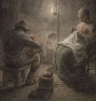 Jean-François Millet, Winterabend, 1867 © 2020 Museum of Fine Arts, Boston / Scala, Firenze.